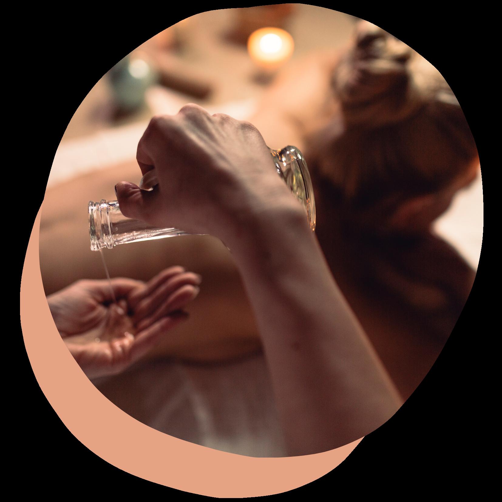 Image massage à l'huile